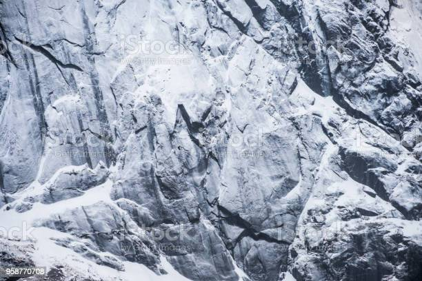 Photo of Close-up snow mountain with shiny light