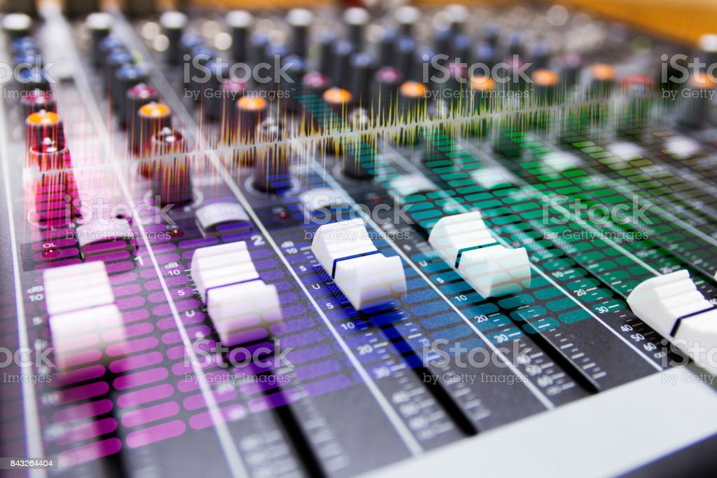 Close-up Sound System & equalizer stock photo