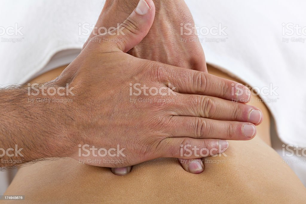 closeup special back massage treatment royalty-free stock photo