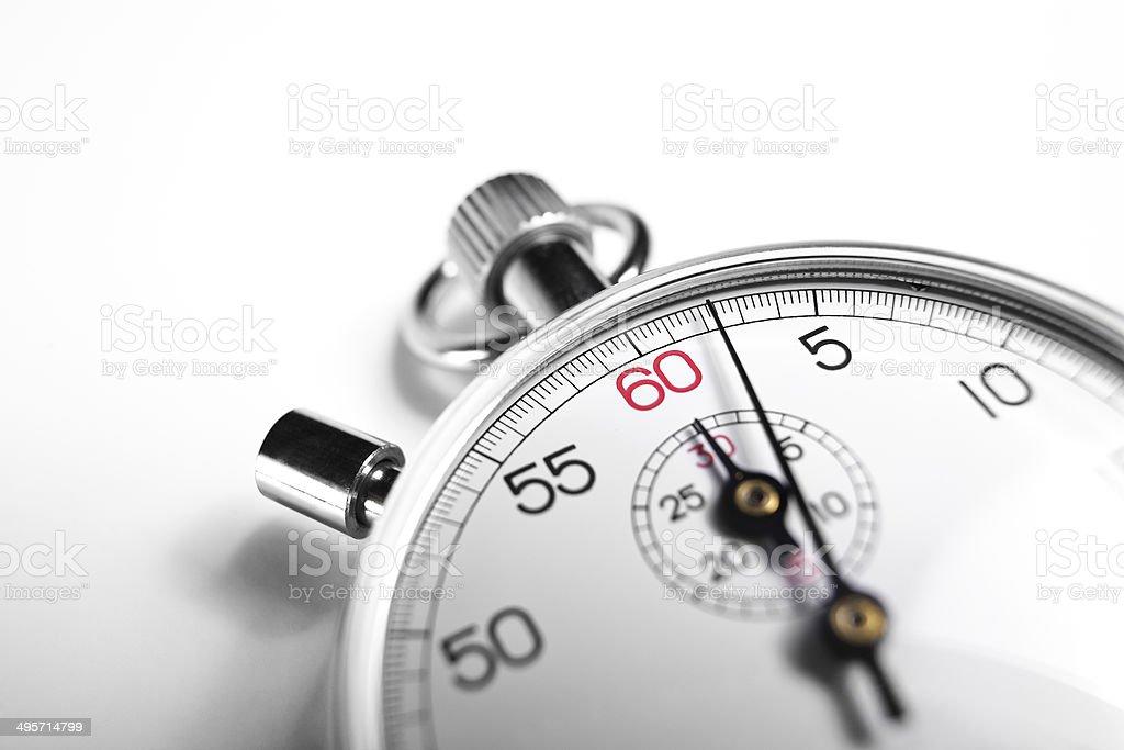 close-up Stopwatch stock photo