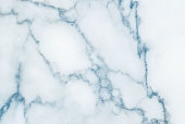 Closeup surface abstract marble pattern at blue marble stone wall texture background