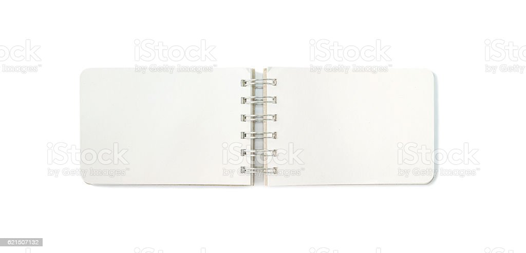 Closeup surface brown note book isolated on white background foto stock royalty-free