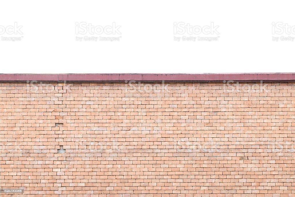 Closeup surface brown stone brick wall textured foto royalty-free