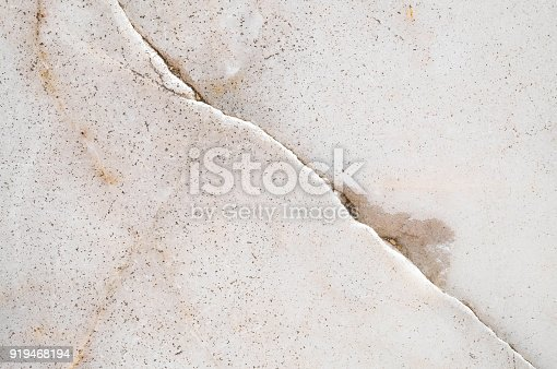 Closeup surface cracked marble floor texture background