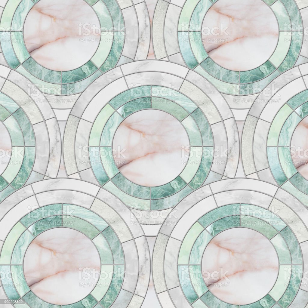 Closeup Surface Tile Circle Pattern By Mix Of Color Marble Stone ...