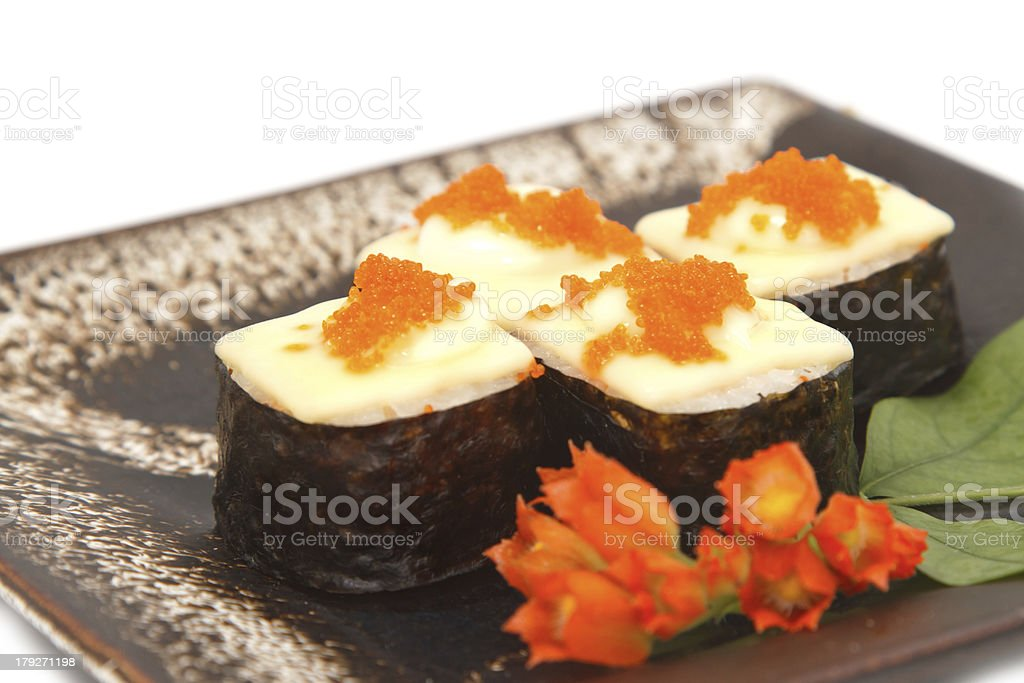 closeup sushi,japanese food royalty-free stock photo