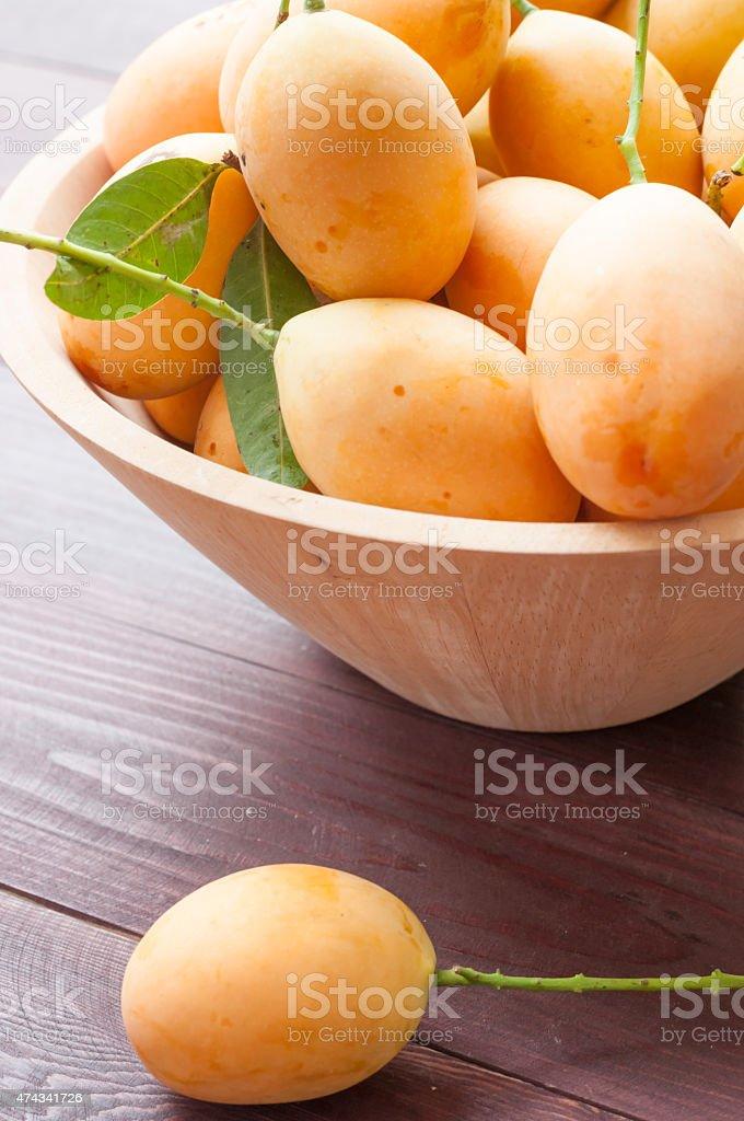 Closeup sweet Marian plum thai fruit stock photo