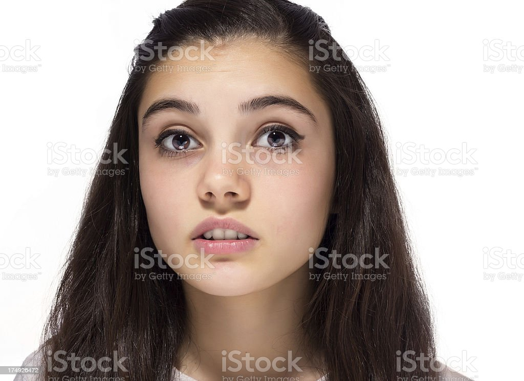 Close-up Teenage Girl royalty-free stock photo