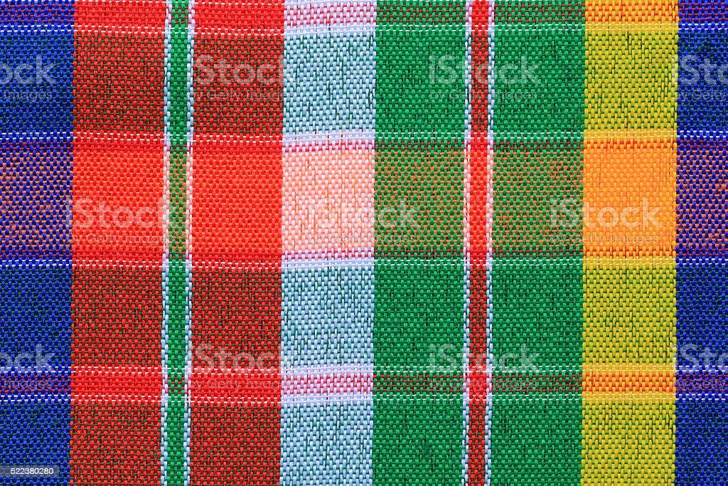 Closeup texture of Fabric, Thai style loincloth stock photo