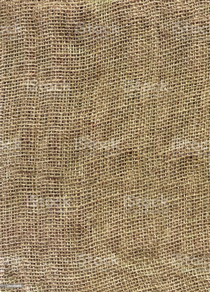 Close-up textured background of burlap royalty-free stock photo