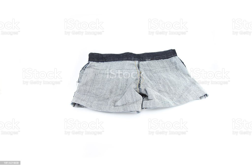 closeup the Jeans inside out. royalty-free stock photo
