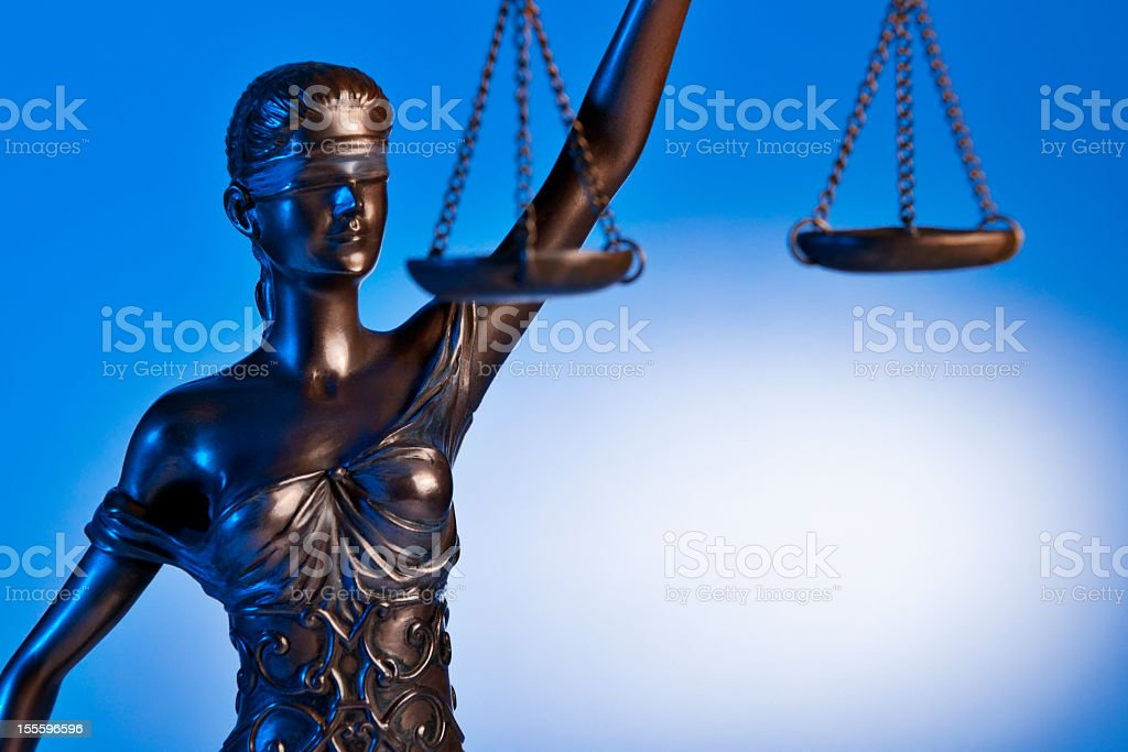 Close-up Themis with blue background royalty-free stock photo
