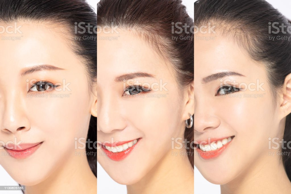 Closeup Three Woman Face With Skin Care Concept Stock Photo Download Image Now Istock