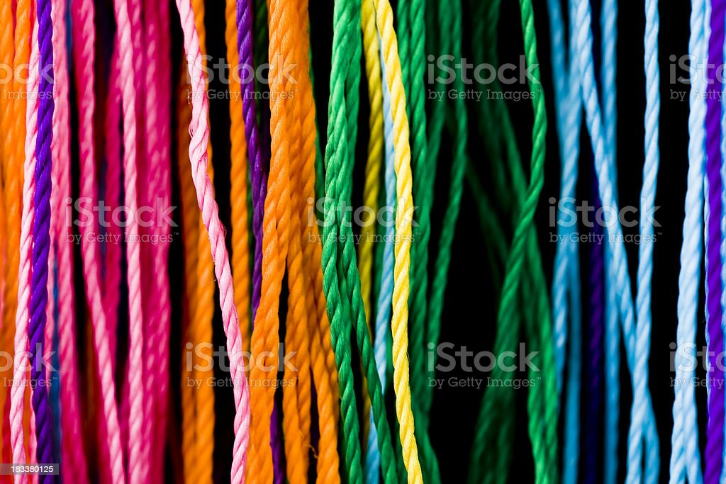 Close-up To Colorful  Threads royalty-free stock photo
