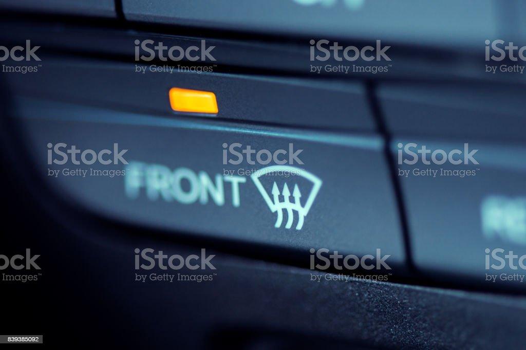 Closeup Auf Der Frontscheibe Heizung Symbol In Ein Modernes Auto ...