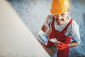 istock Closeup top view of a construction worker. 639567206