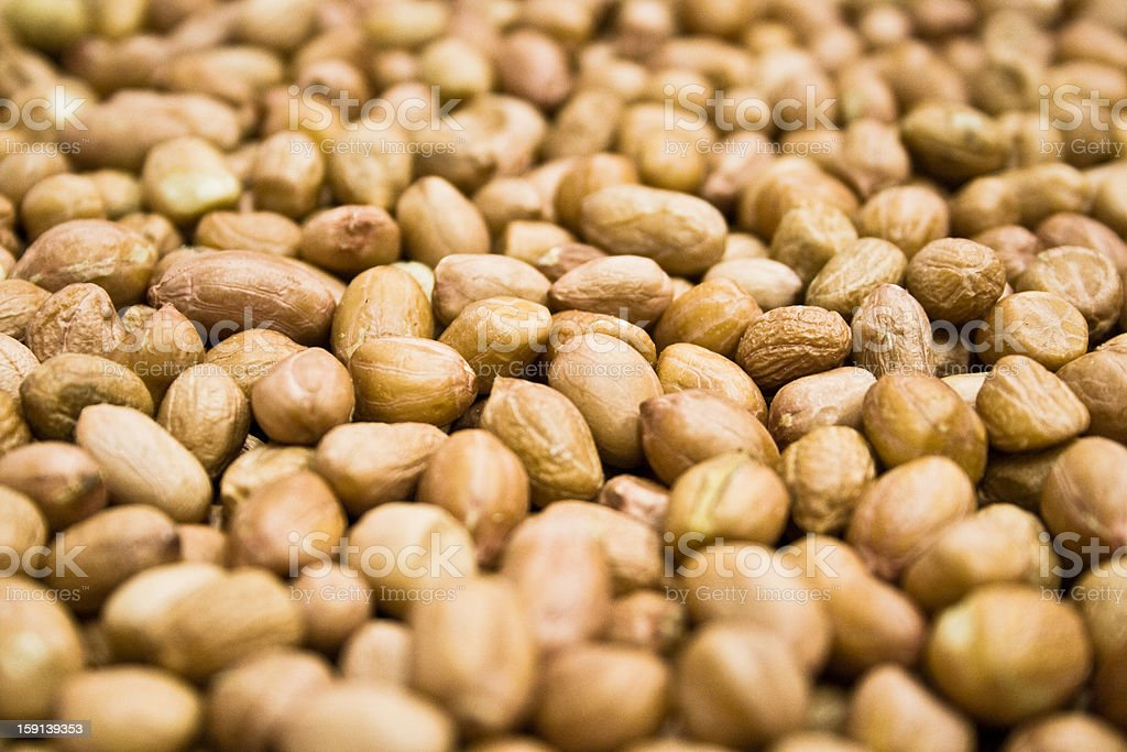 Closeup top view of peanuts background royalty-free stock photo
