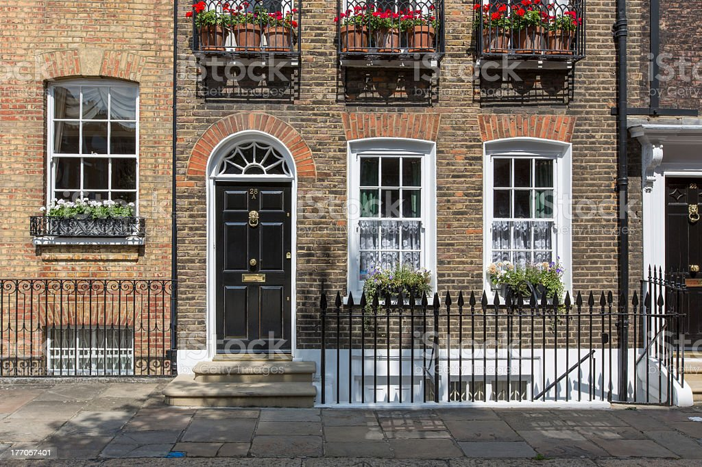 Close-up Townhouse, Chelsea. London stock photo