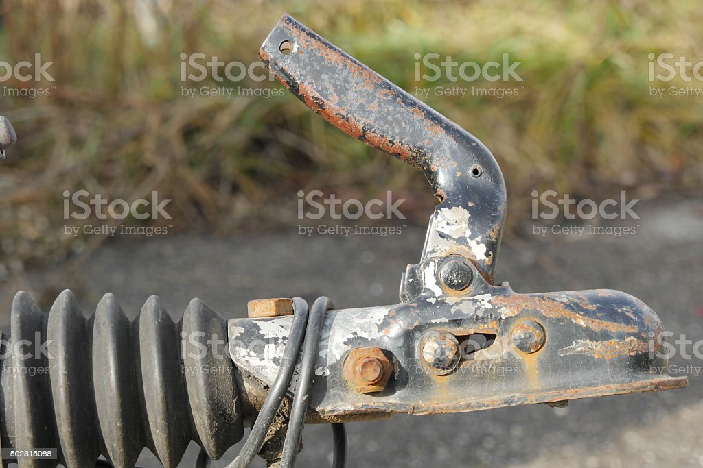 close-up trailer hook for boats stock photo