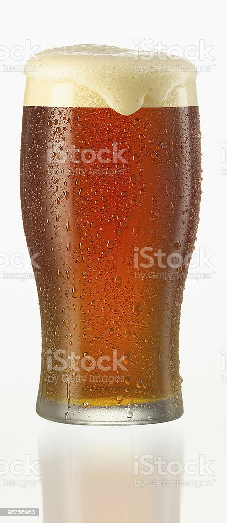 Close-up vector illustration of a glass of cold beer stock photo