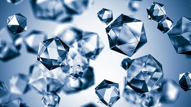 Close-up vector illustration of hexagonal spheres stock photo