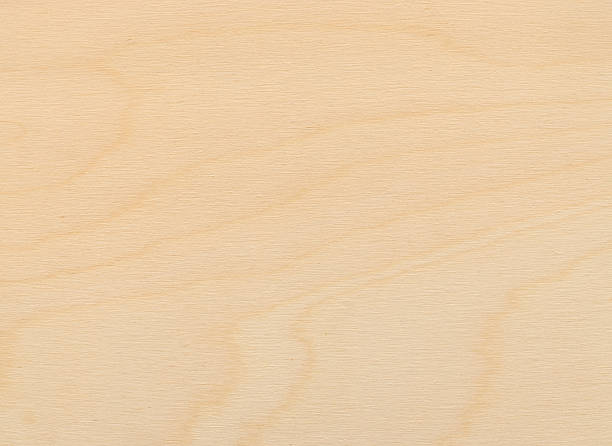 close-up view of a uniformly lit birch plywood board - triplex stockfoto's en -beelden