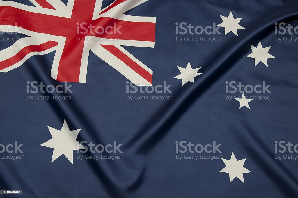 Close-up view of Australian flag stock photo
