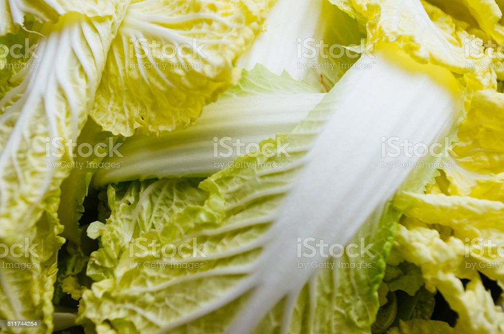 Close-up view of Chinese Cabbage stock photo
