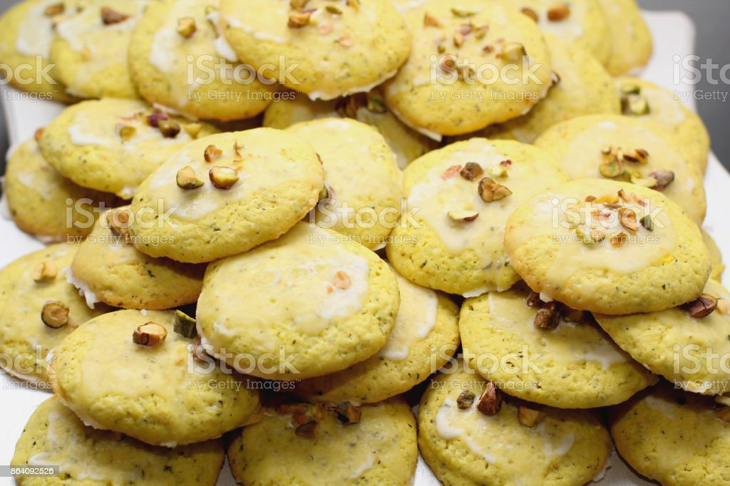Closeup view of cookies royalty-free stock photo