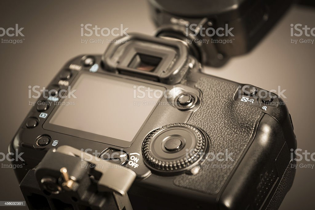 Closeup view of digital camera royalty-free stock photo