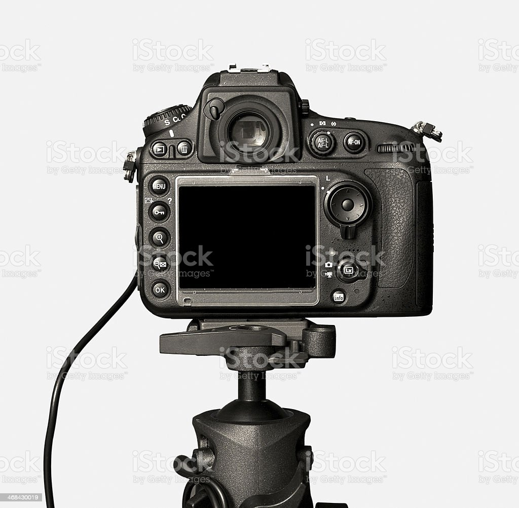Closeup view of digital camera stock photo