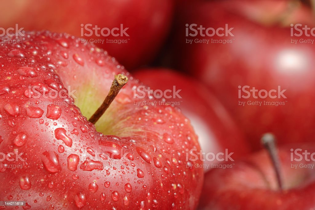 Close-up view of fresh red apples royalty-free stock photo