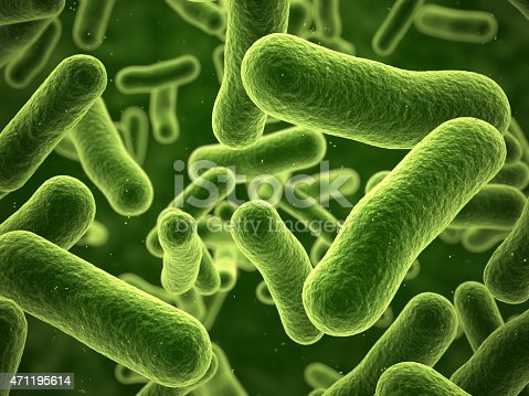 3d render Bacteria closeup (depth  of field)