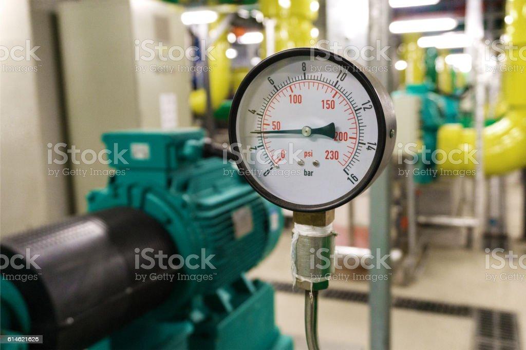 Closeup view of manometer. stock photo