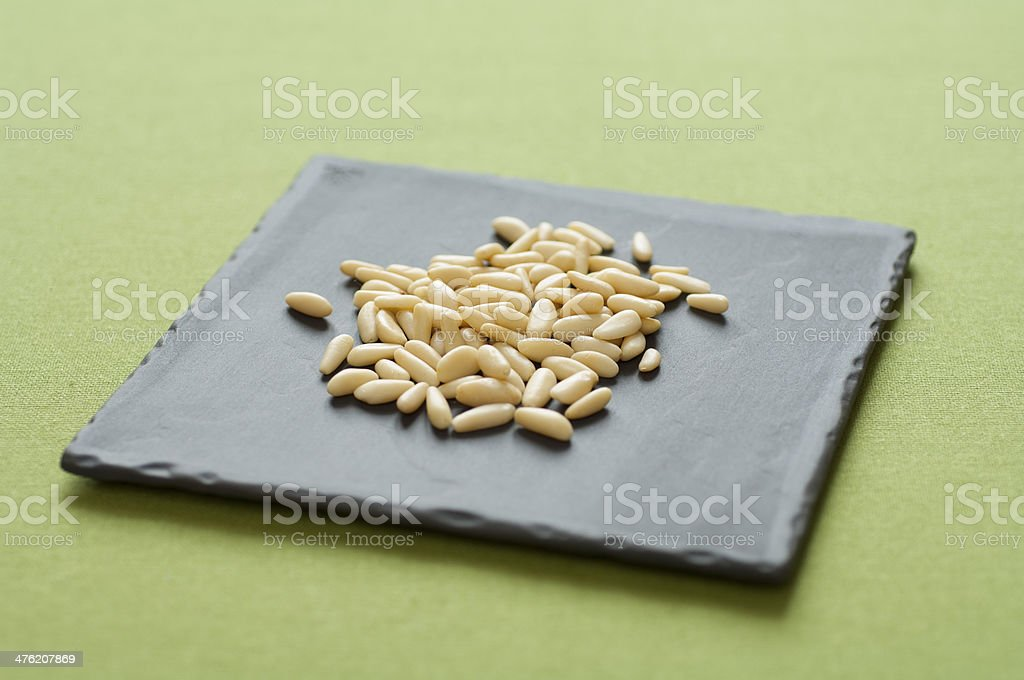 Close-up view of Pine Nuts royalty-free stock photo