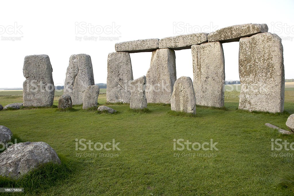 Close-up View of Stonehenge Horizontal royalty-free stock photo