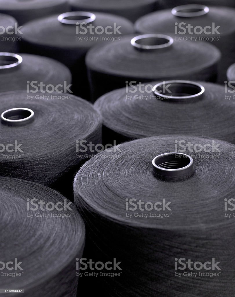 Closeup view of textile factory detail stock photo