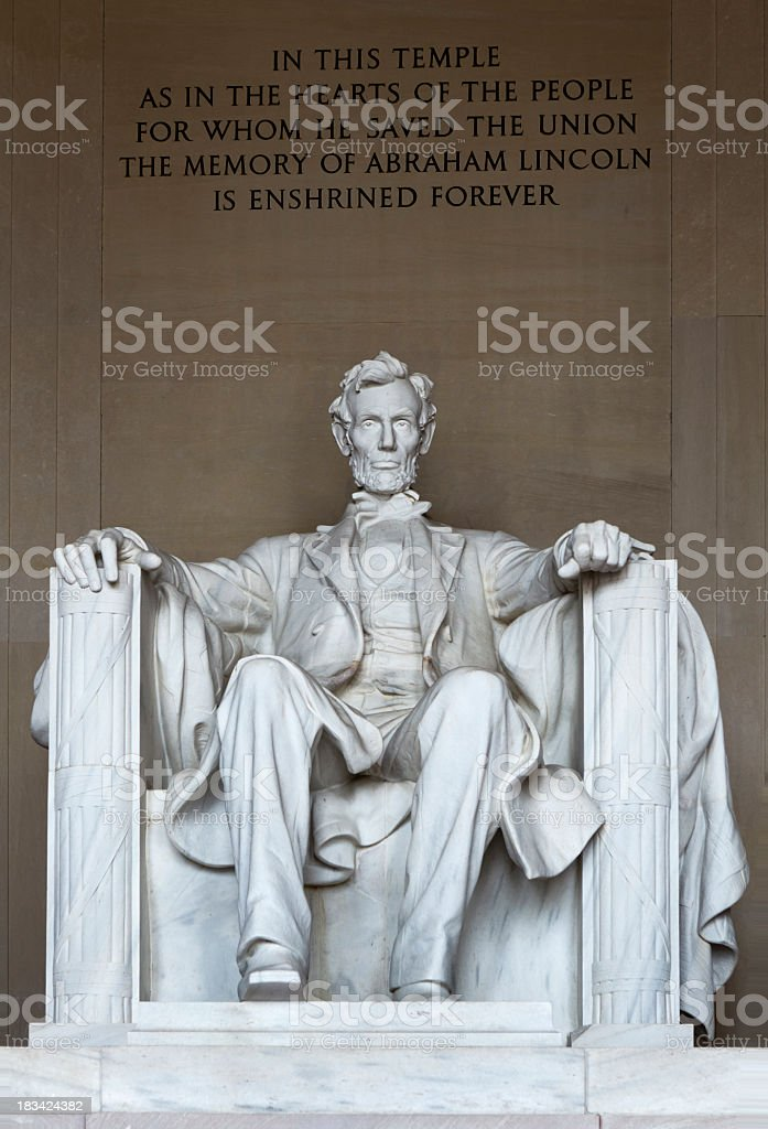 Close-up view of the Lincoln memorial royalty-free stock photo