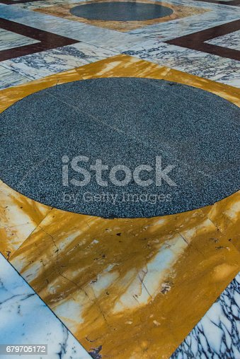 172477241 istock photo Closeup view of the marble floor of the Pantheon, Rome. 679705172