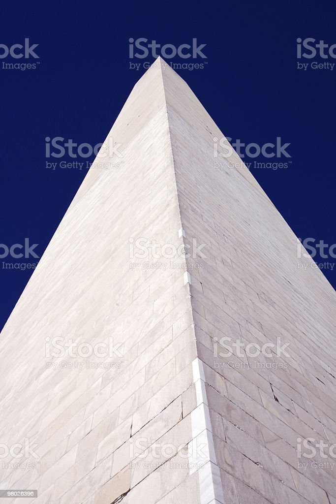 Close-up view of the Washington Monument vertical royalty-free stock photo