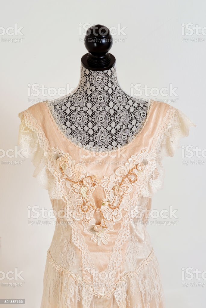 Closeup Vintage Brautkleid – Foto