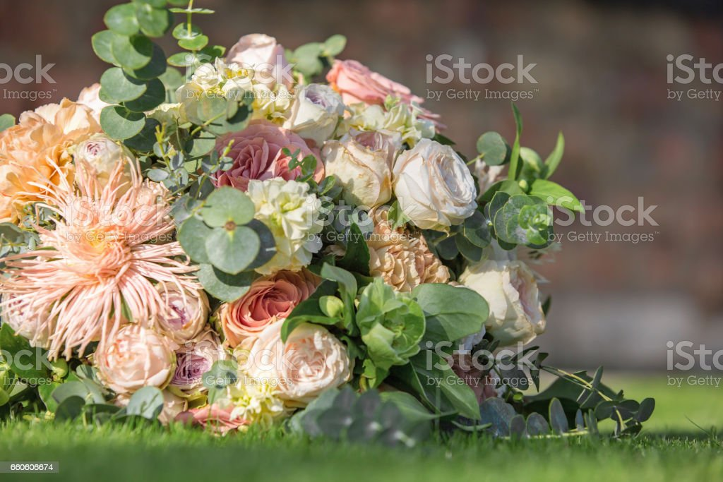 closeup wedding bride's bouquet. royalty-free stock photo