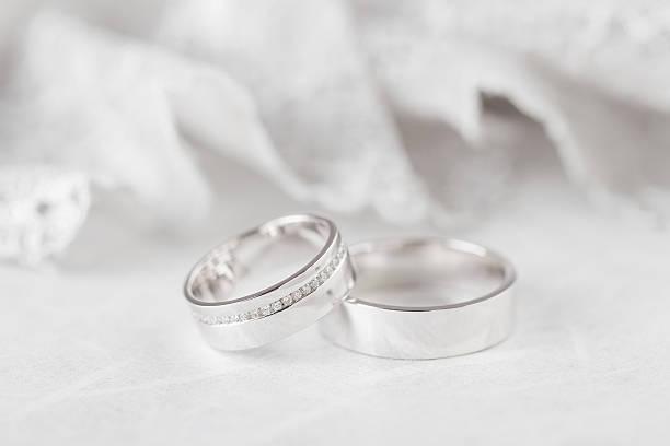 Closeup wedding rings