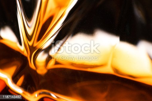 Close-up Whiskey Glass detail of an alcoholic beverage