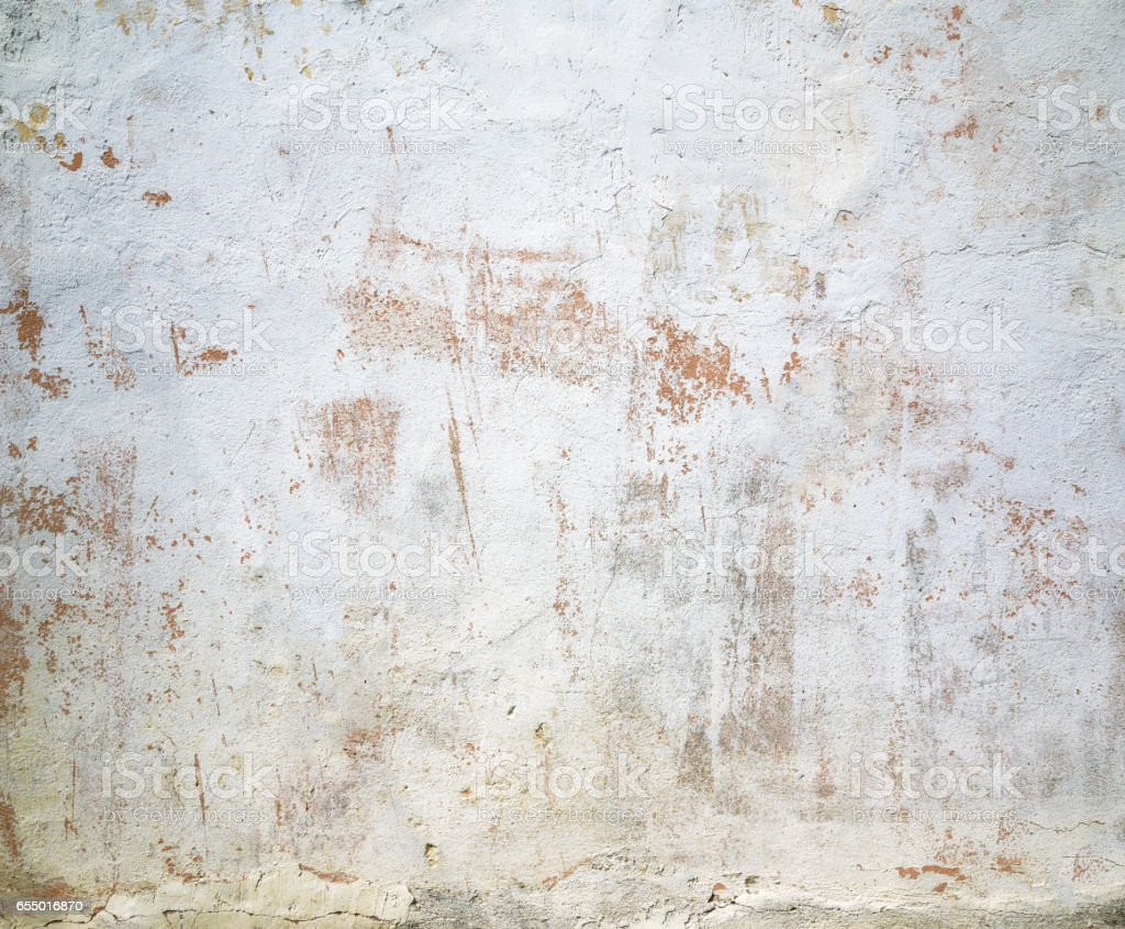 Closeup white beige painted grunge old wall texture for Old concrete wall texture