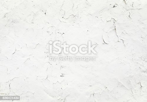 istock Close-up white grunge old wall texture concrete cement background 636424430