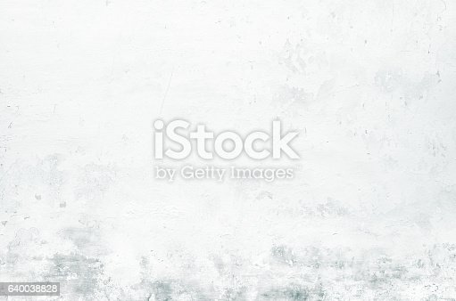 istock Close-up white grunge old wall texture concrete cement background 640038828