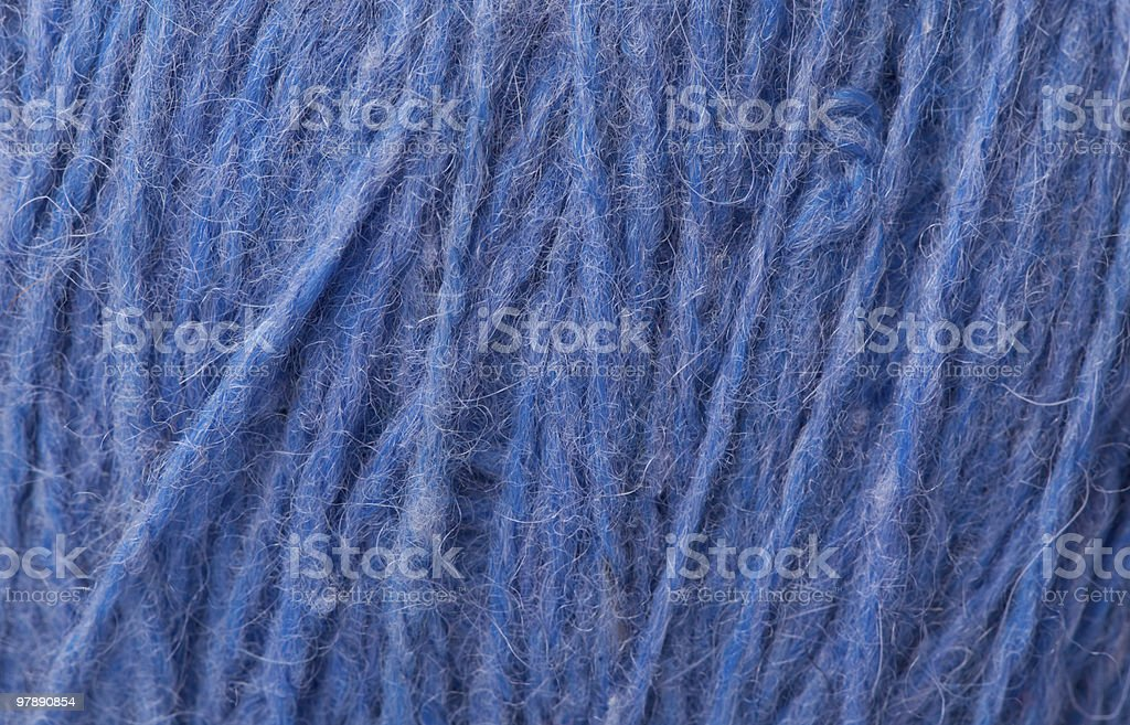 Close-up With a dark blue woollen thread royalty-free stock photo