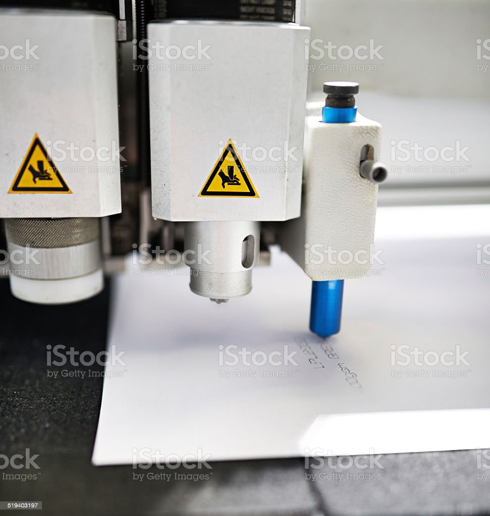 Closeup with the printing industry stock photo