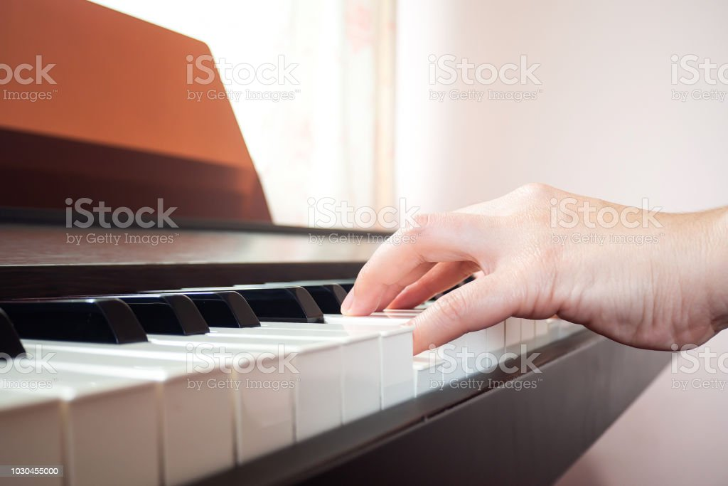 Closeup Woman Hands Playing Piano Music And Art Background Stock Photo -  Download Image Now